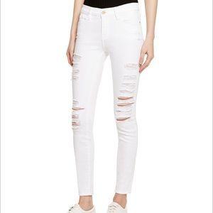 Le Color Blanc distressed skinny jean 26 FRAME